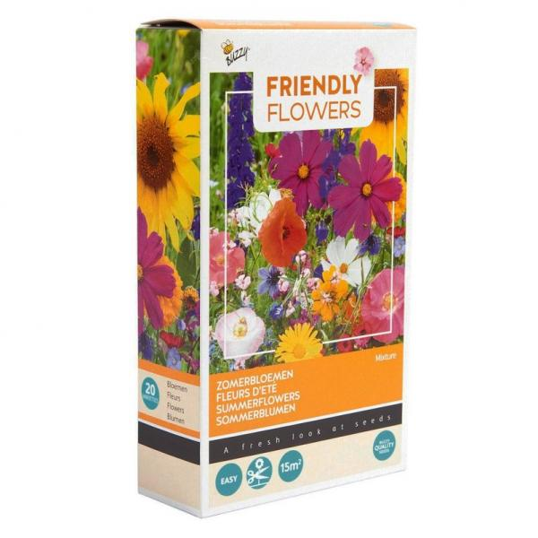 Friendly Flowers Mix, Blumenwiese, 15 qm, mit Granulat, 50 Blumensorten;;71204